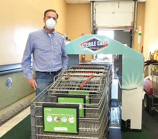 """After watching stores struggle during this COVID-19 pandemic trying their best to clean shopping carts,"" said Scott Landgraf, ""I had the idea of how to accomplish the job of cleaning shopping carts correctly and efficiently. I invented the Sterile..."